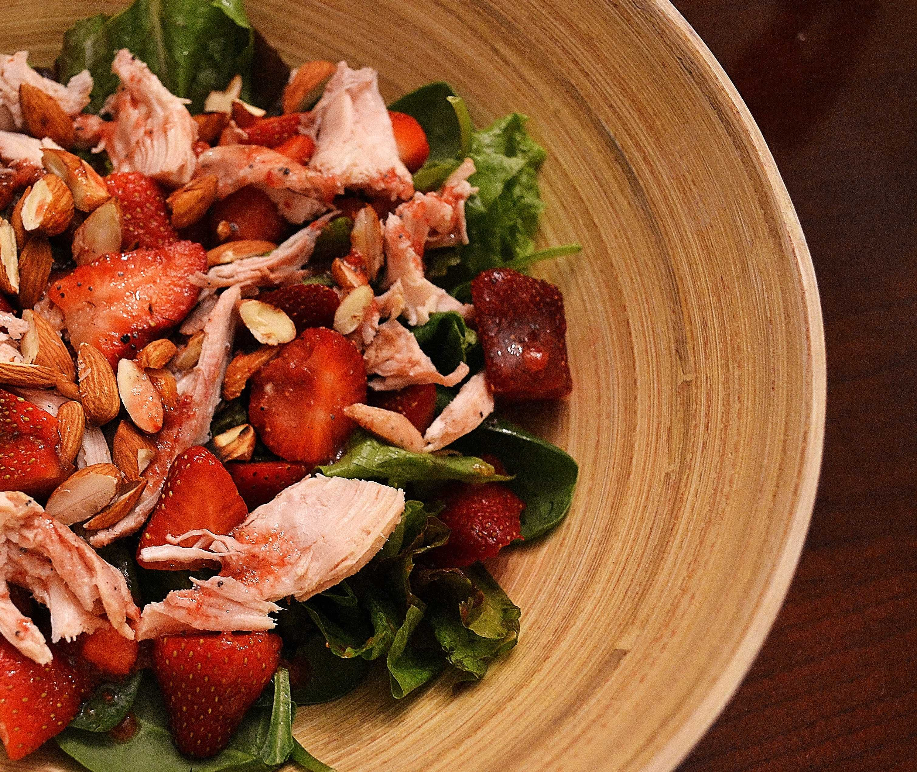 Strawberry and chicken salad I