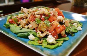 Tuscan Chicken and Tomato Salad