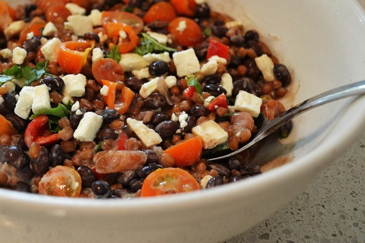 Slow Cooker Black Bean and Spelt Salad