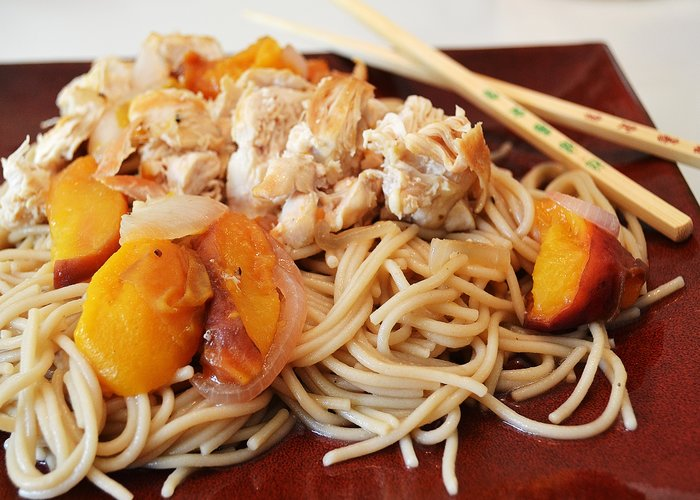 Chicken and Peaches