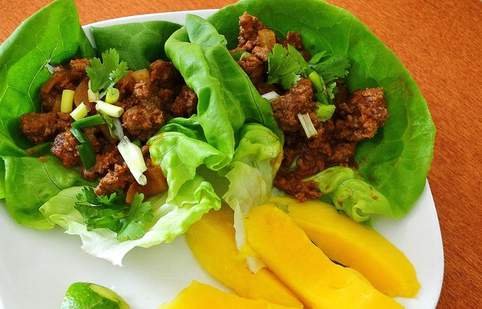Curried Thai Beef Lettuce Wraps