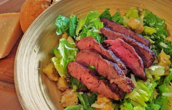 Caesar Salad with Steak