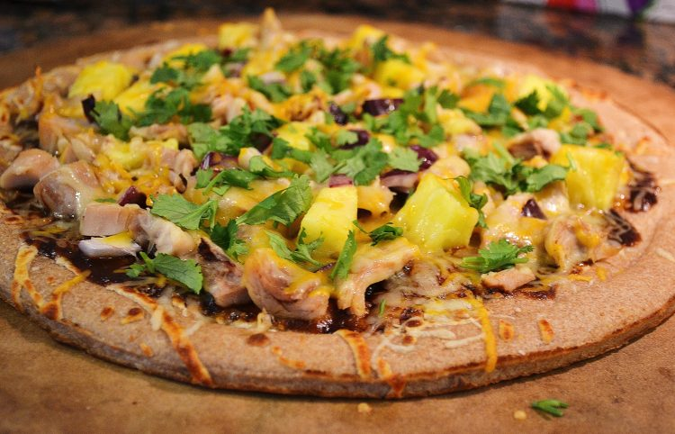 Grilled Barbequed Chicken and Pineapple Pizza