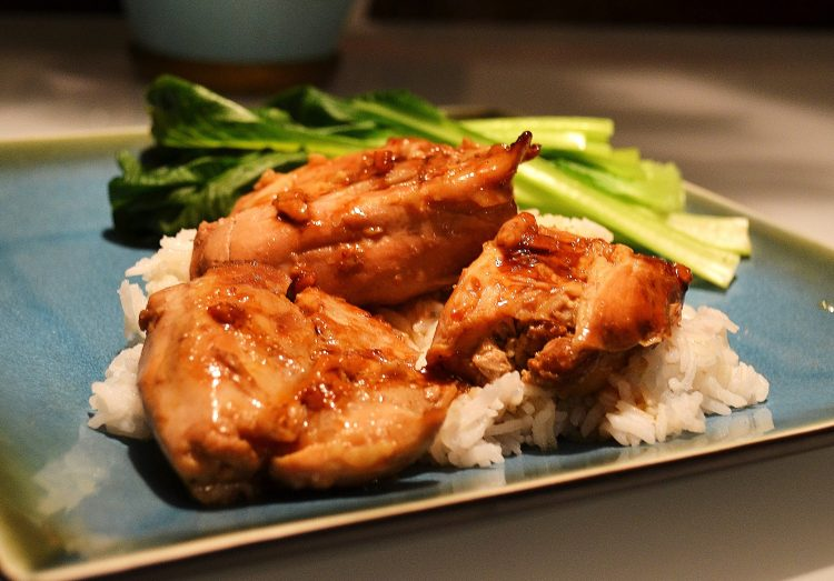 Slow Cooker Sweet Soy Braised Chicken Thighs