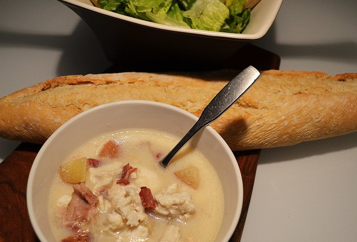 Slow cooker fish chowder the whole meal for Fish chowder slow cooker