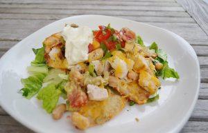 Grilled Chicken Nacho Salad