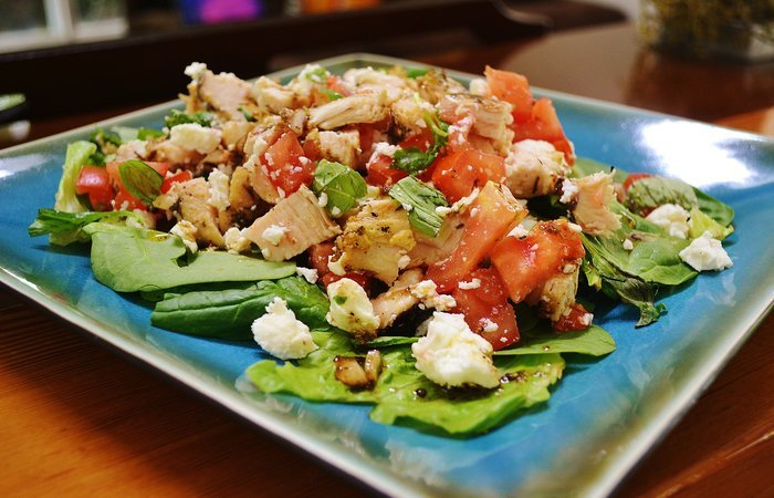 Tuscan Chicken and Tomato Salad