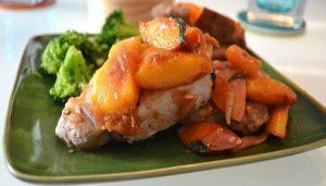 Skillet Pork Chops with Nectarines