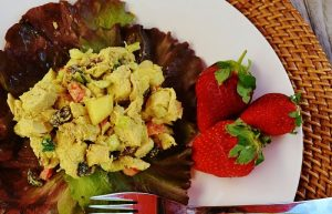 Apple Walnut Curried Chicken Salad