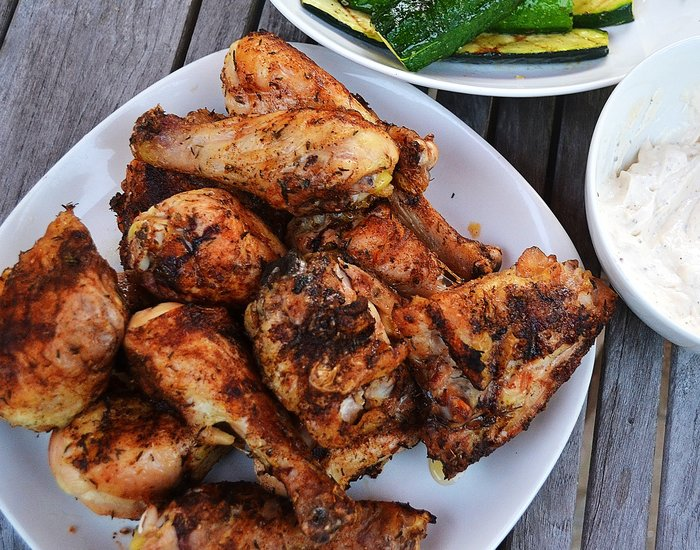 Herbed Grilled Chicken with White BBQ Sauce
