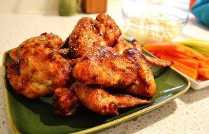 Honey BBQ'd Chicken Wings