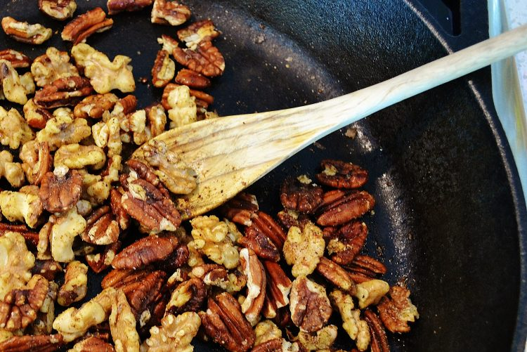 Spicy Roasted Pecans and Walnuts
