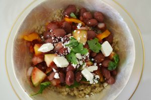 Quinoa with Gazpacho and Red Beans