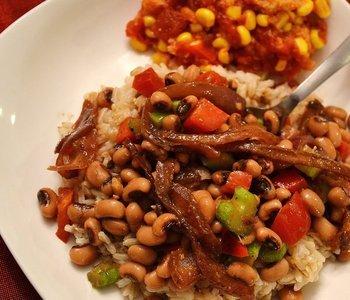 Black Eyed Pea Salad with Sweet Vidalia Onion Vinaigrette