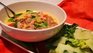 Beef and Cheddar Cheese Chowder