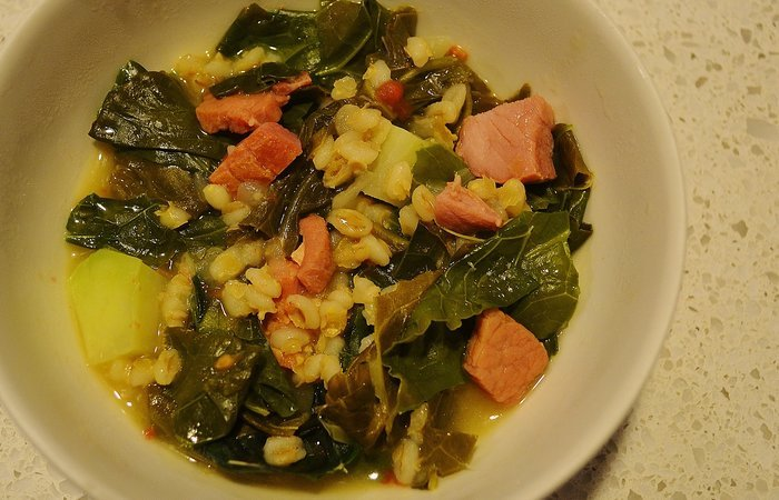 Barley, Ham and Collards