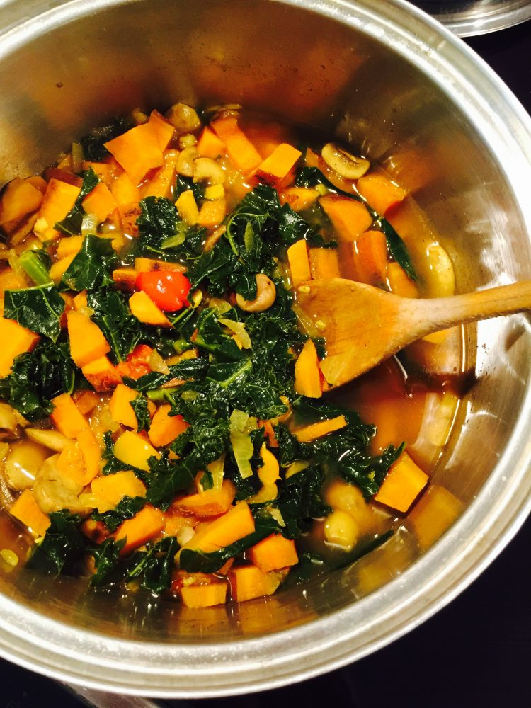 Indian-Spiced Kale and Sweet Potato Soup