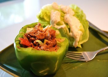 Turkey Stuffed Green Peppers