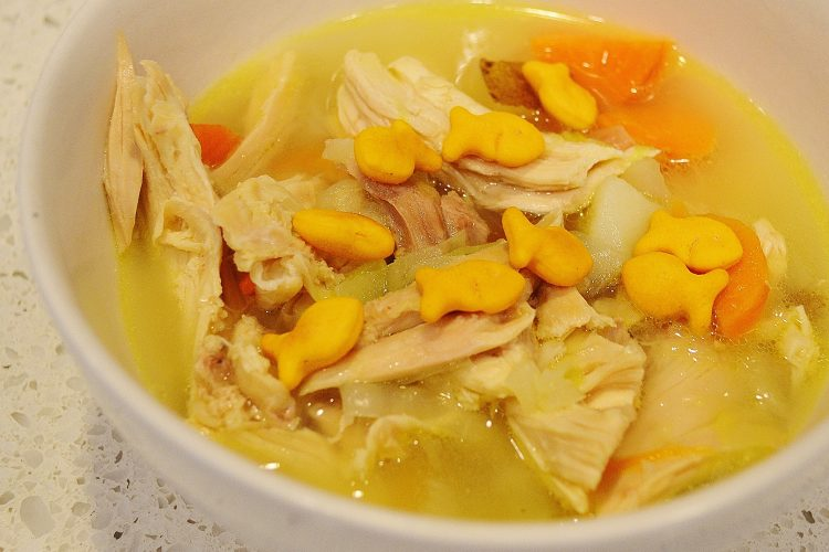 "Gia's ""Fishy"" Chicken Noodle Soup"