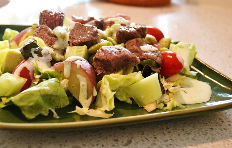 Crispy London Broil Bites Salad