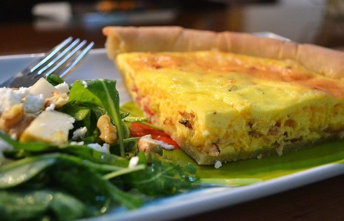 Bacon and Cheddar Cheese Quiche