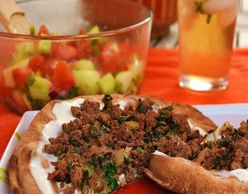 Beef Kefta Flatbread Pizza