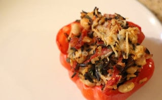 Rice Medley and White Bean Stuffed Tomatoes