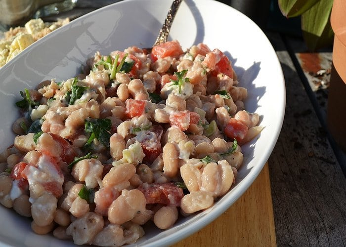 White Bean Salad with Goat Cheese