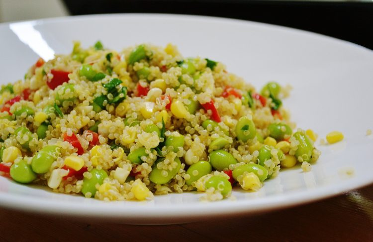 Edamame and Summer Corn Quinoa Salad